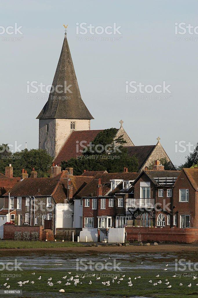 Bosham Village Church royalty-free stock photo