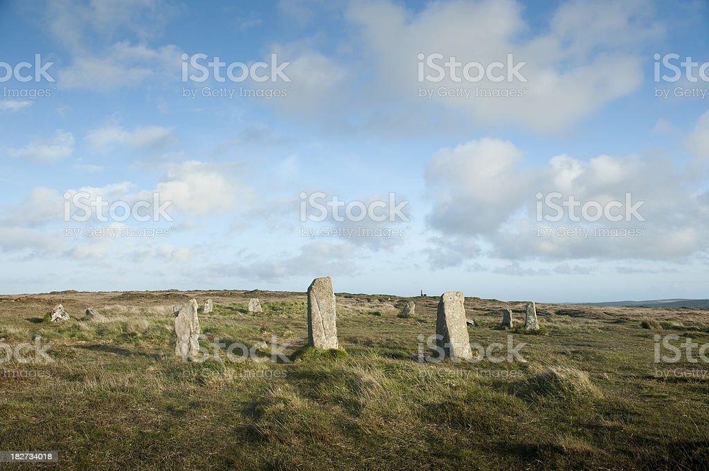 Boskednan Stone Circle royalty-free stock photo