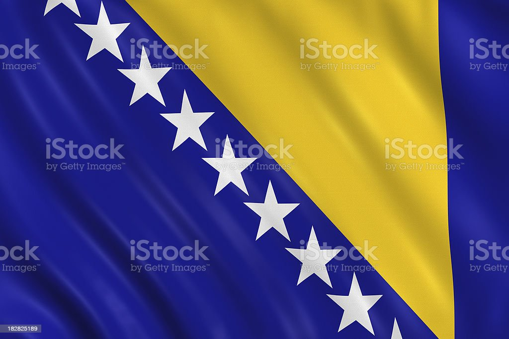 bosnia and hercegovina flag stock photo