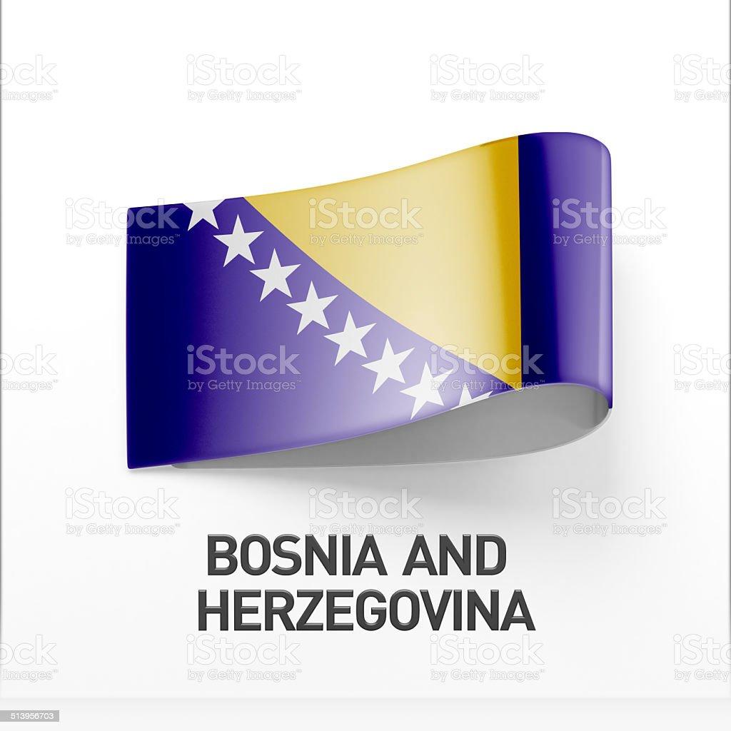Bosnia and Herzegovina Flag Icon stock photo