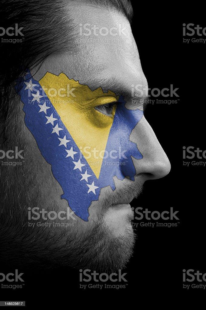 Bosnia and Herzegovina flag stock photo