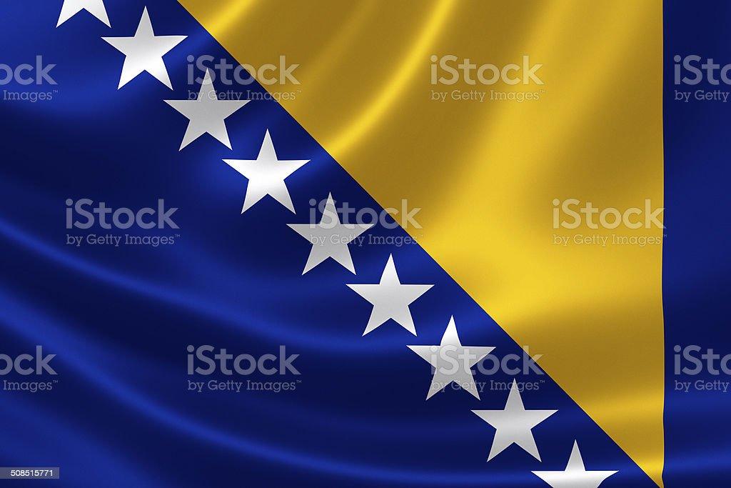 Bosnia and Herzegovina's Flag stock photo