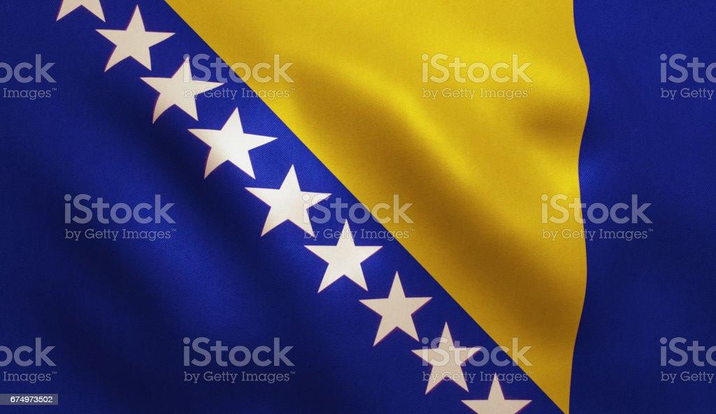 Bosnia Flag stock photo