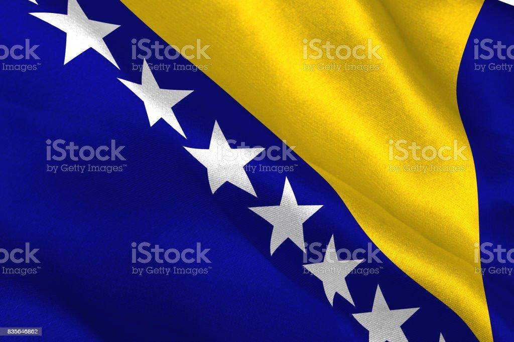 Bosnia herzegovina national flag stock photo
