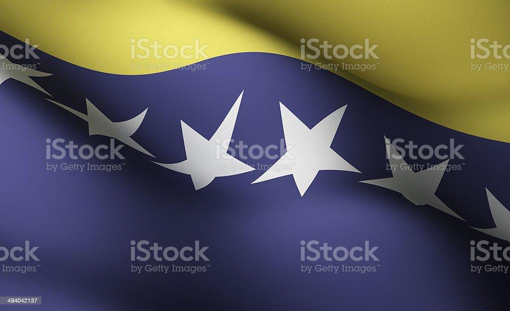 Bosnia Herzegovinan flag stock photo