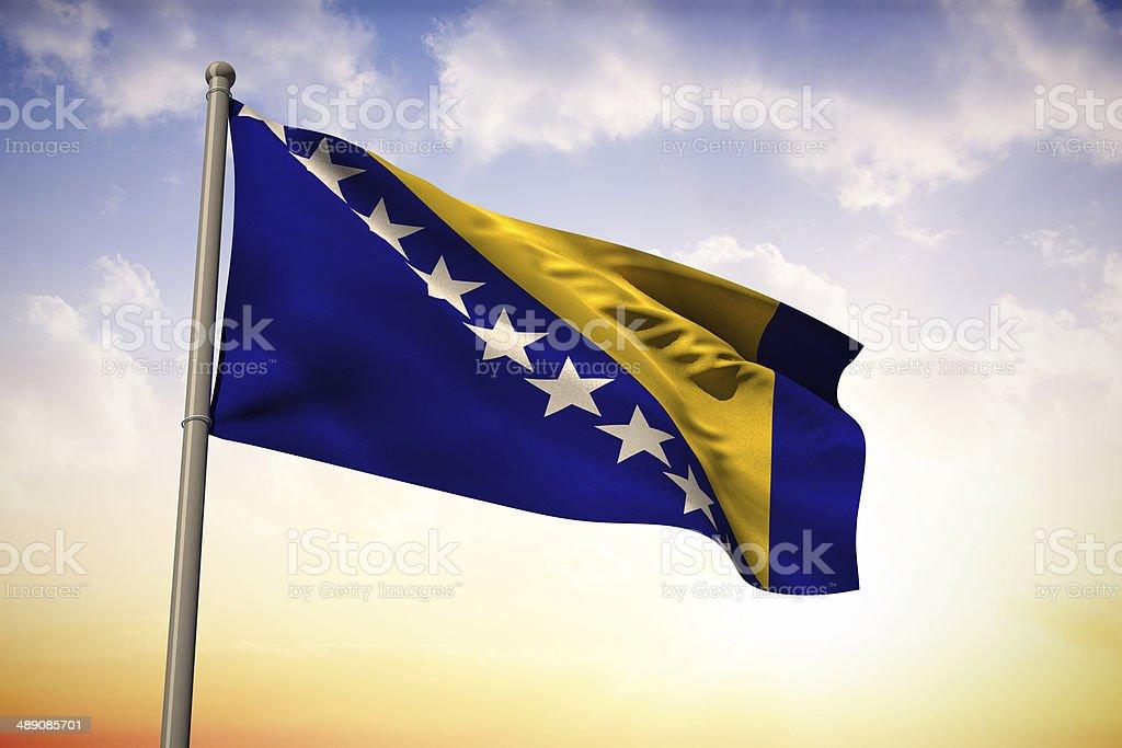 Bosnia national flag stock photo