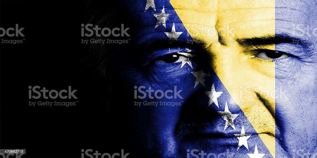 Bosnia Sport Soccer Fan royalty-free stock photo