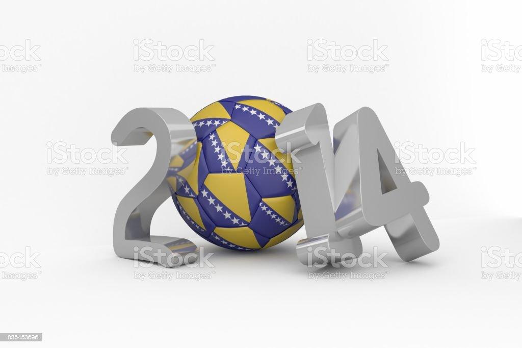 Bosnia world cup 2014 stock photo