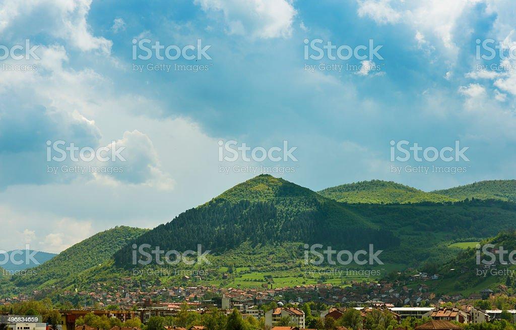 Bosnian Pyramid of the Sun stock photo