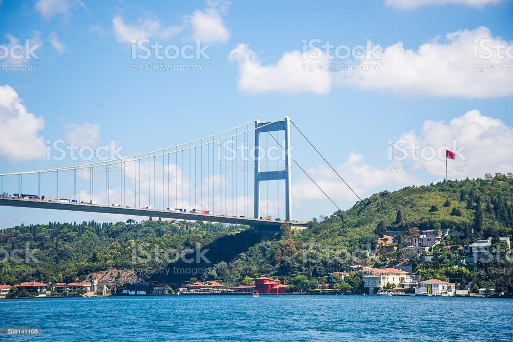 Bosphorous Bridge, Istanbul, Turkey stock photo