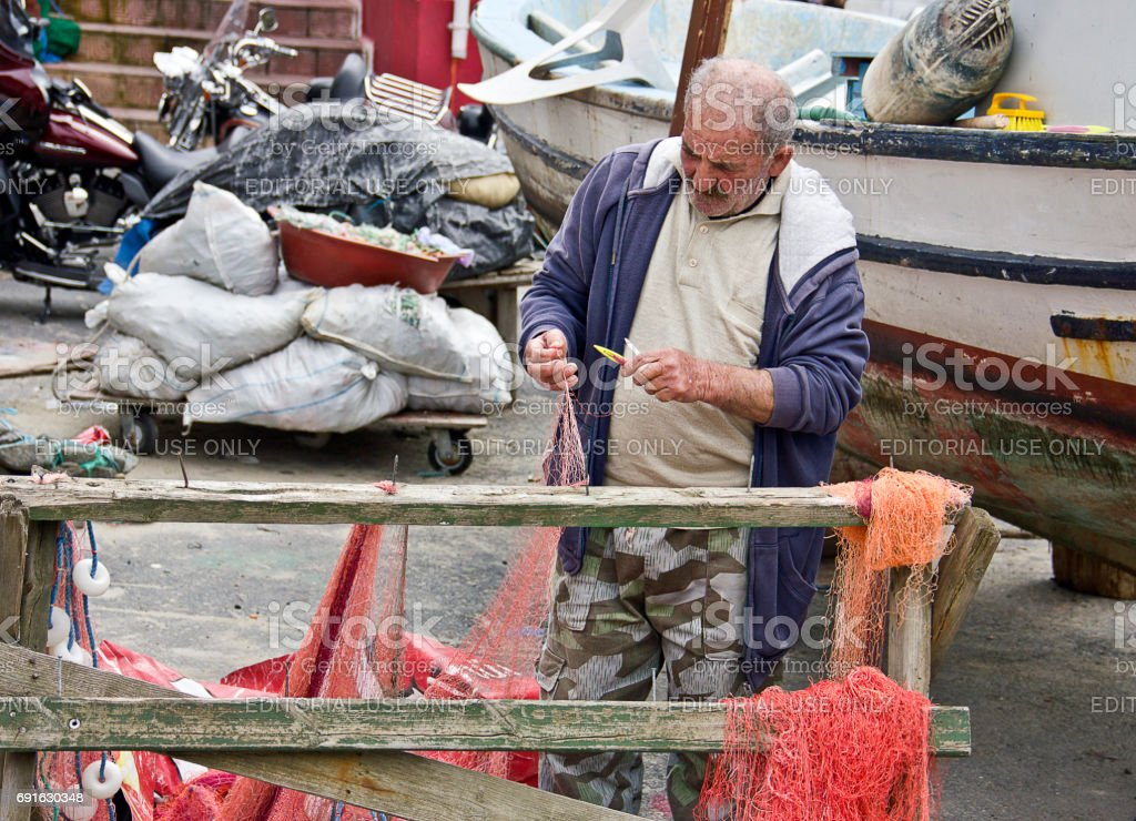 Bosphorus and Fishermen stock photo