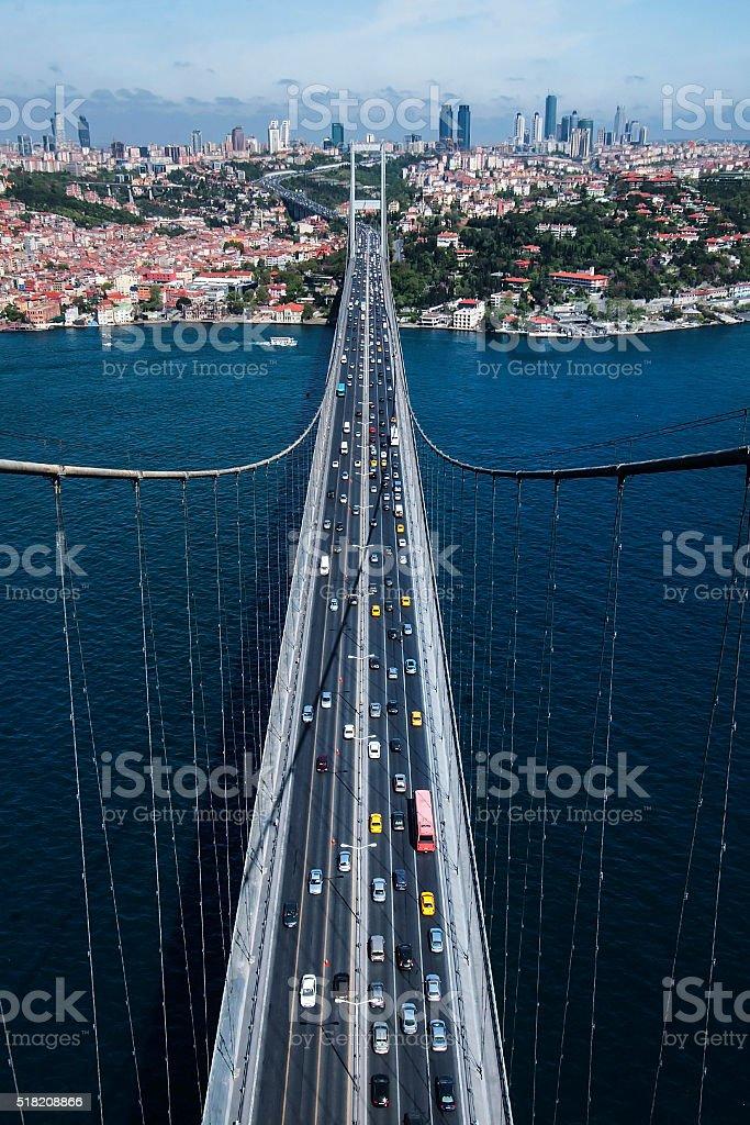 bosphorus bridge, bogazici, air stock photo