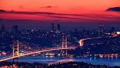 Bosphorus Bridge during the sunset, Istanbul