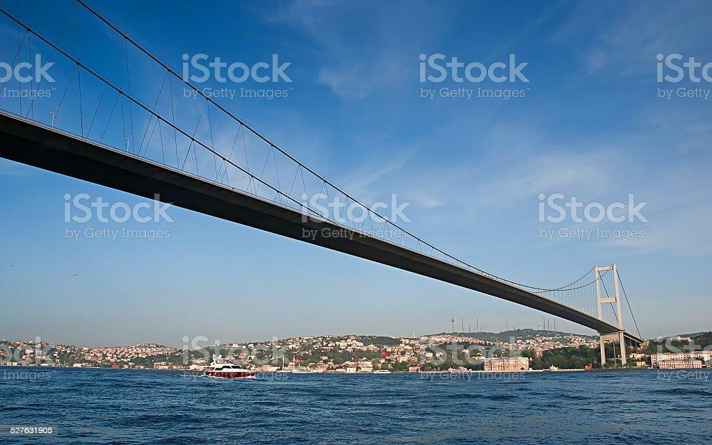 Pont du Bosphore à Istanbul, en Turquie. photo libre de droits