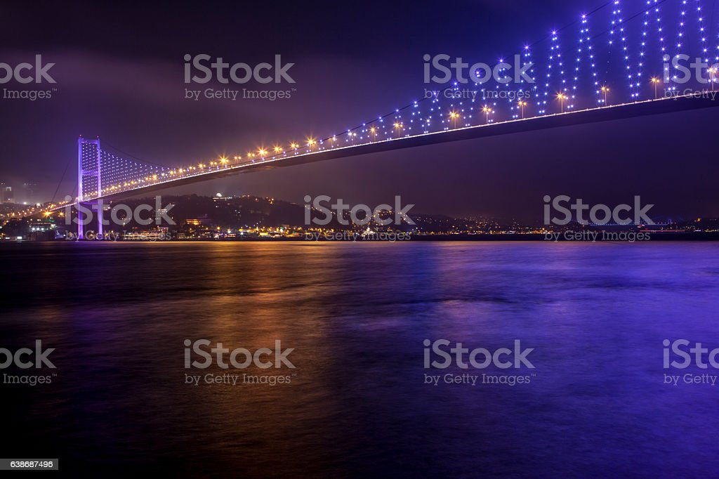 Bosphorus bridge in Istanbul, Turkey stock photo