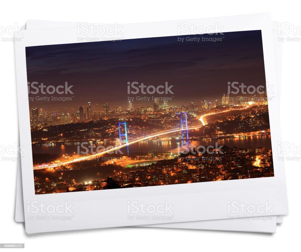 Bosphorus Bridge in Istanbul.Photo. Isolated on White Background. stock photo