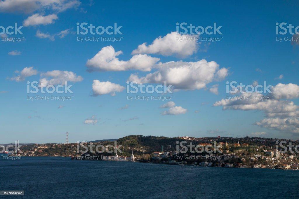 Bosphorus Bridge, Istanbul Bosphorus stock photo