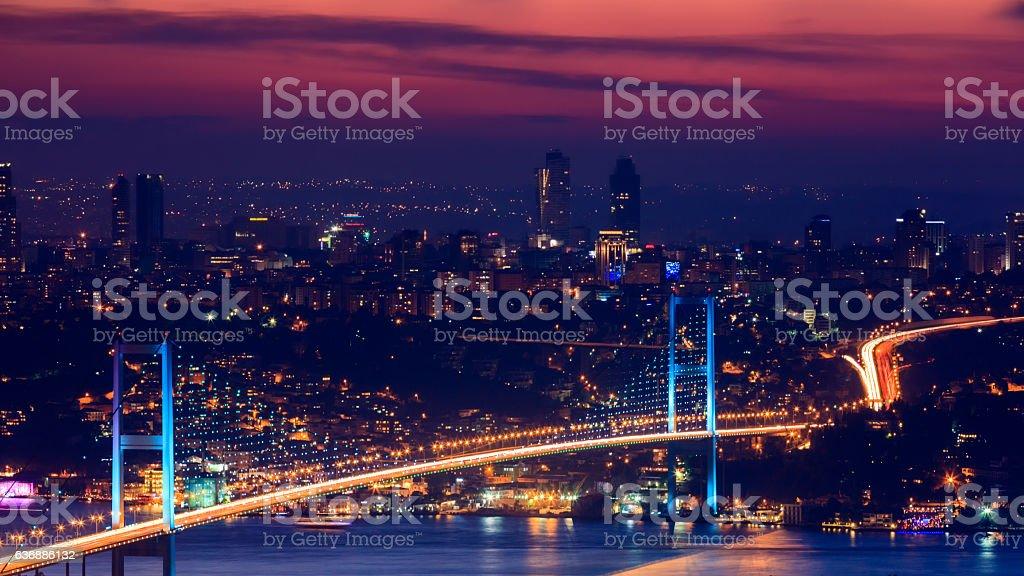 Bosphorus Bridge, Istanbul stock photo