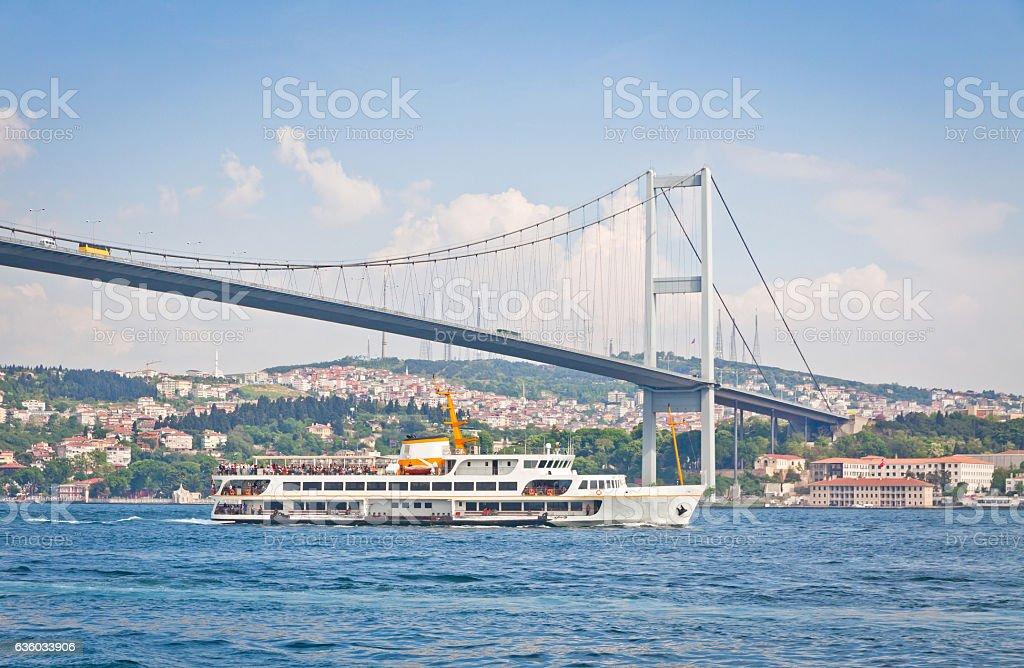 Bosphorus Bridge over the Bosphorus strait in Istanbul stock photo