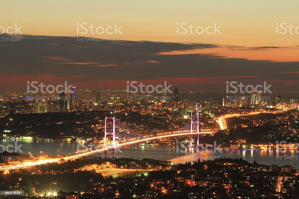 Bosphorus Bridge royalty-free stock photo