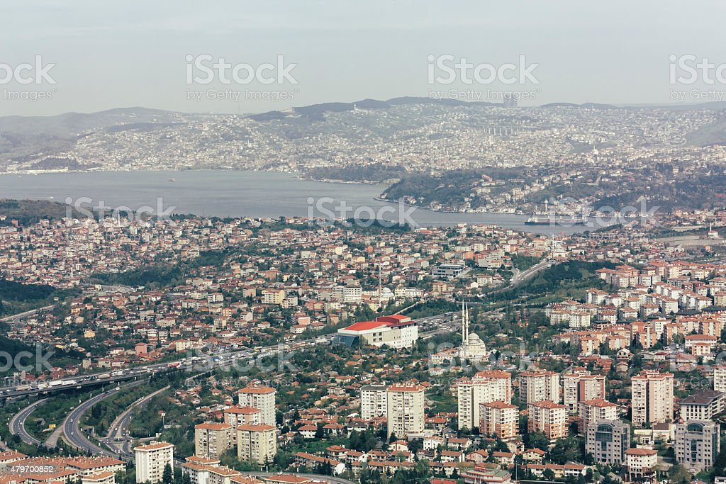 bosphorus in Istanbul, tourism travel destination stock photo