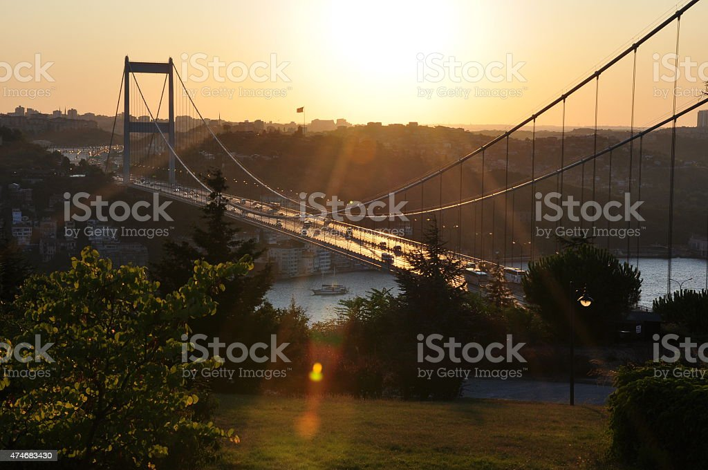 Bosphorus of Otagtepe view stock photo