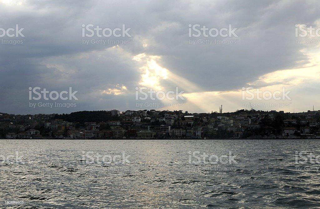 Bosphorus Storm Clouds royalty-free stock photo