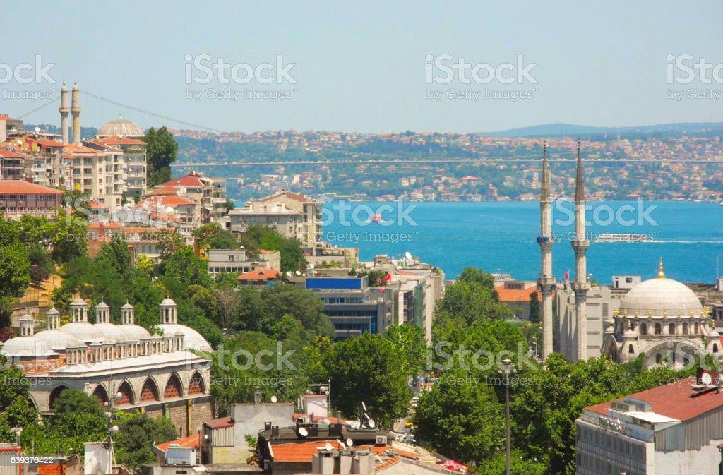 Bosphorus Strait of Istanbul. stock photo