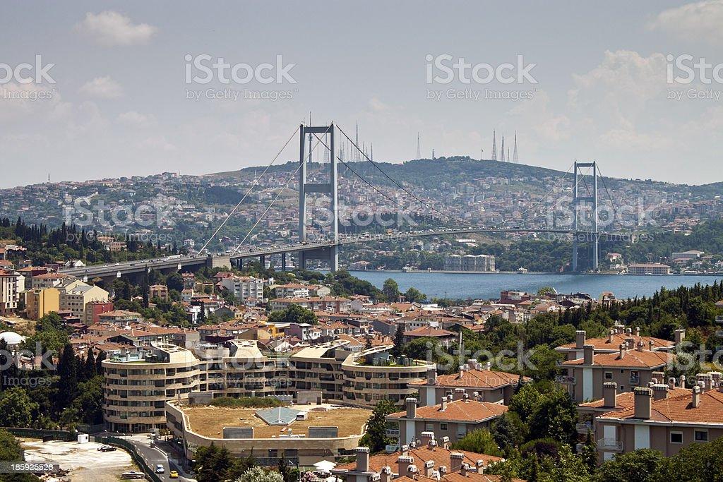 Bosporus bridge royalty-free stock photo