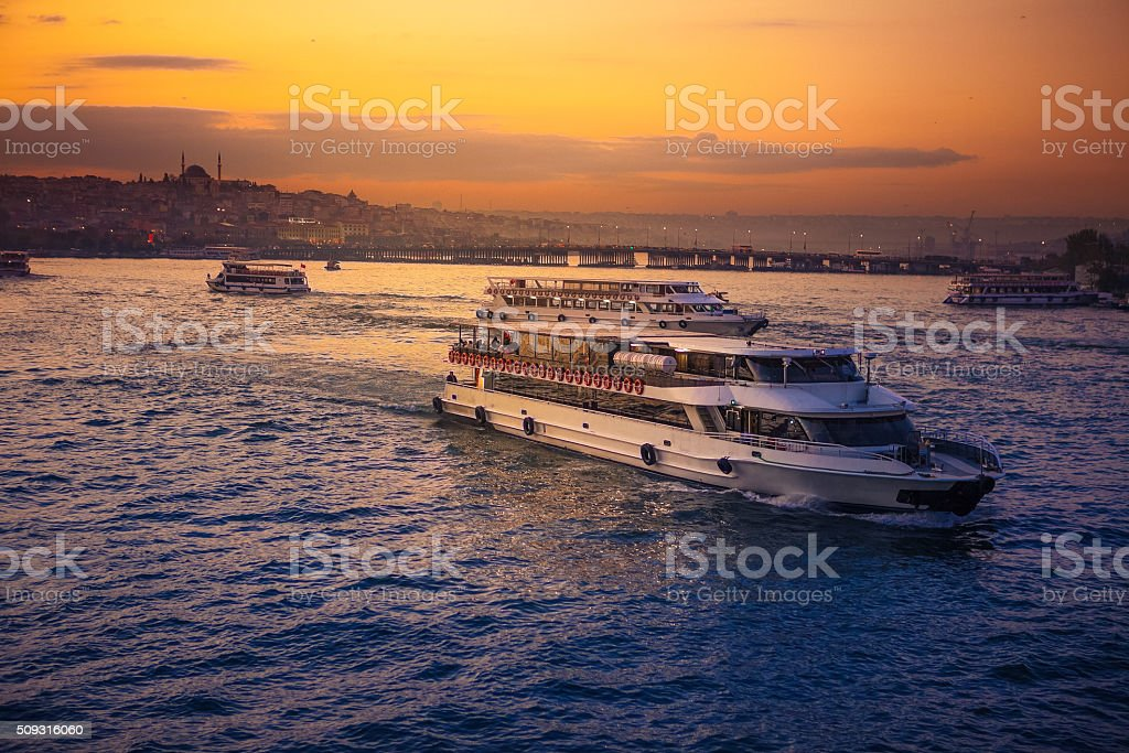 Bosporus view from the Galata tower stock photo