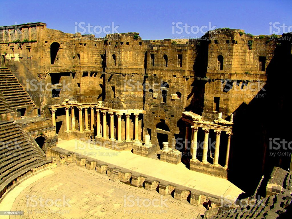 Bosra Roman Theater, Syria stock photo