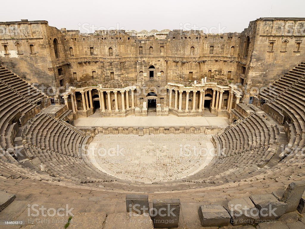 Bosra Ruins royalty-free stock photo