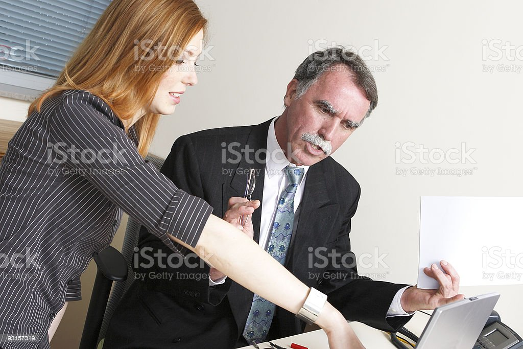 Boss and assistant royalty-free stock photo