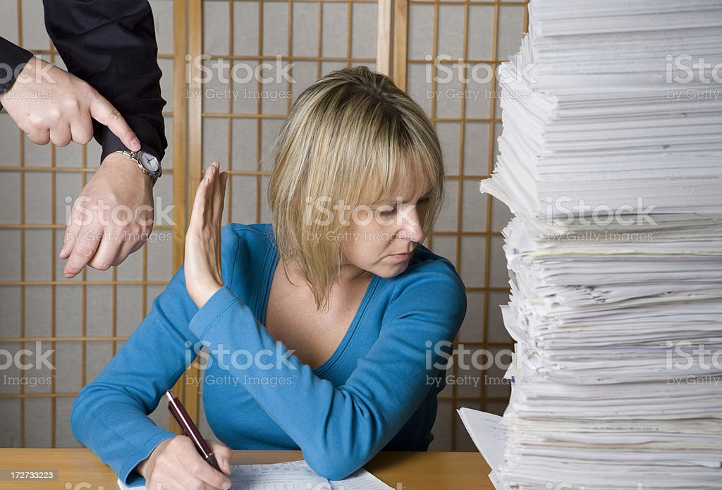 Boss and employee issues royalty-free stock photo