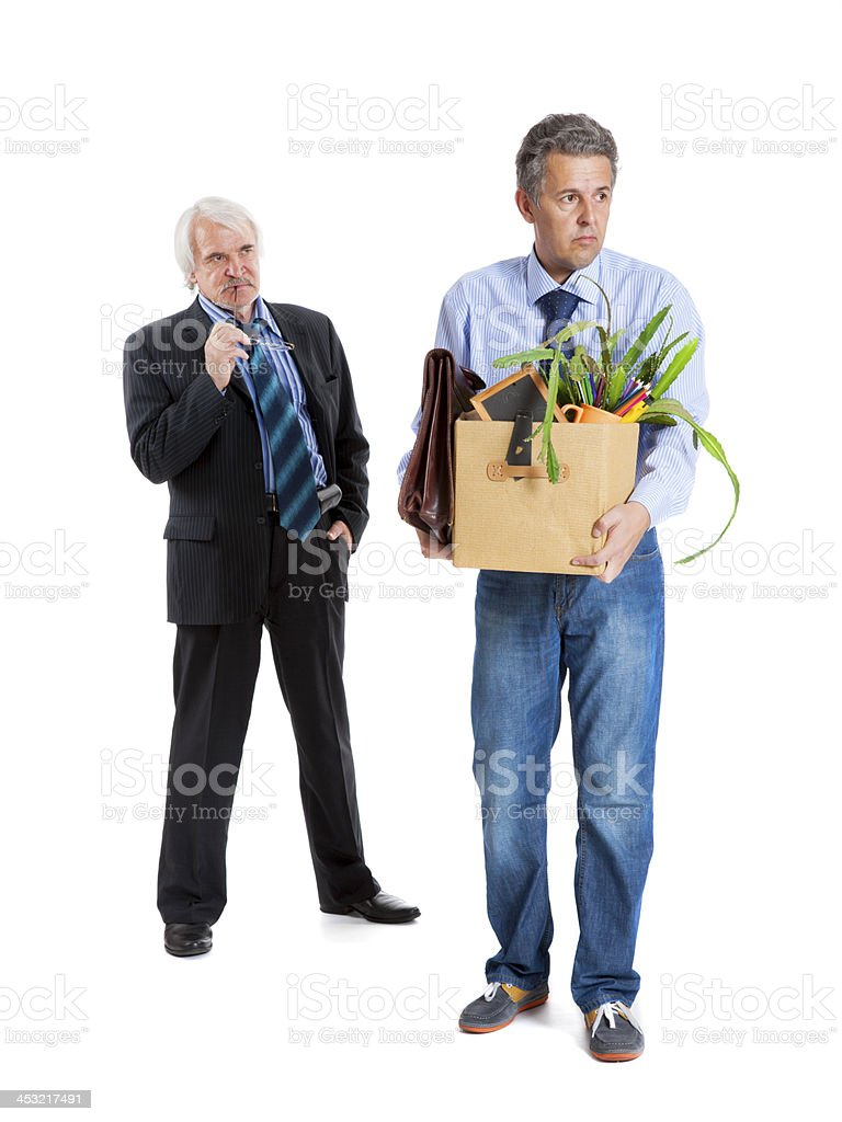 boss and fired man royalty-free stock photo
