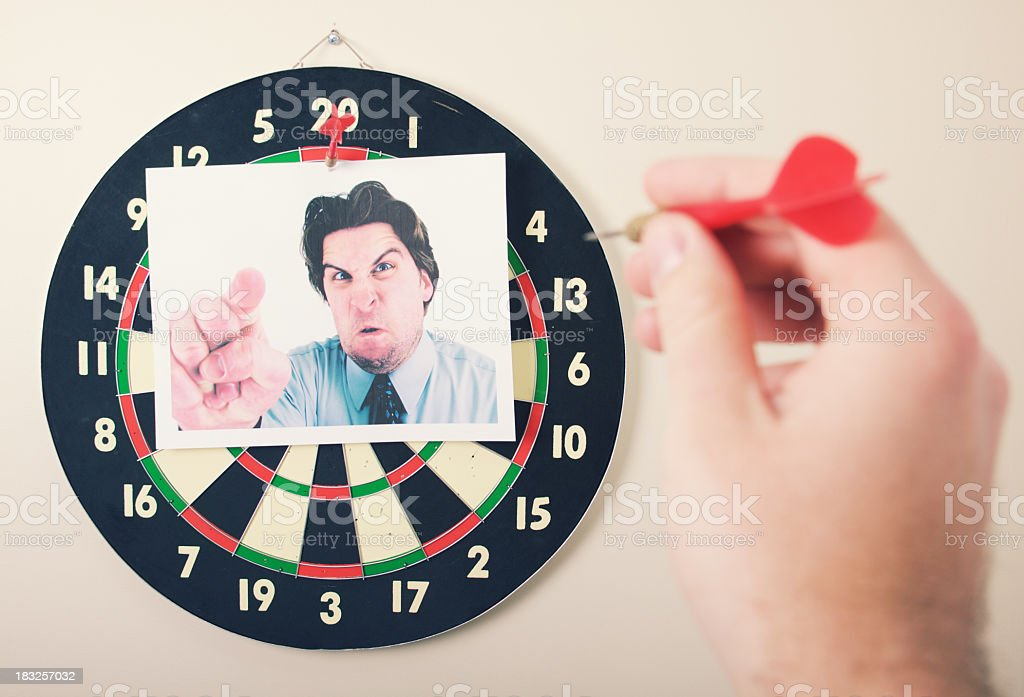 Boss Dart Board royalty-free stock photo