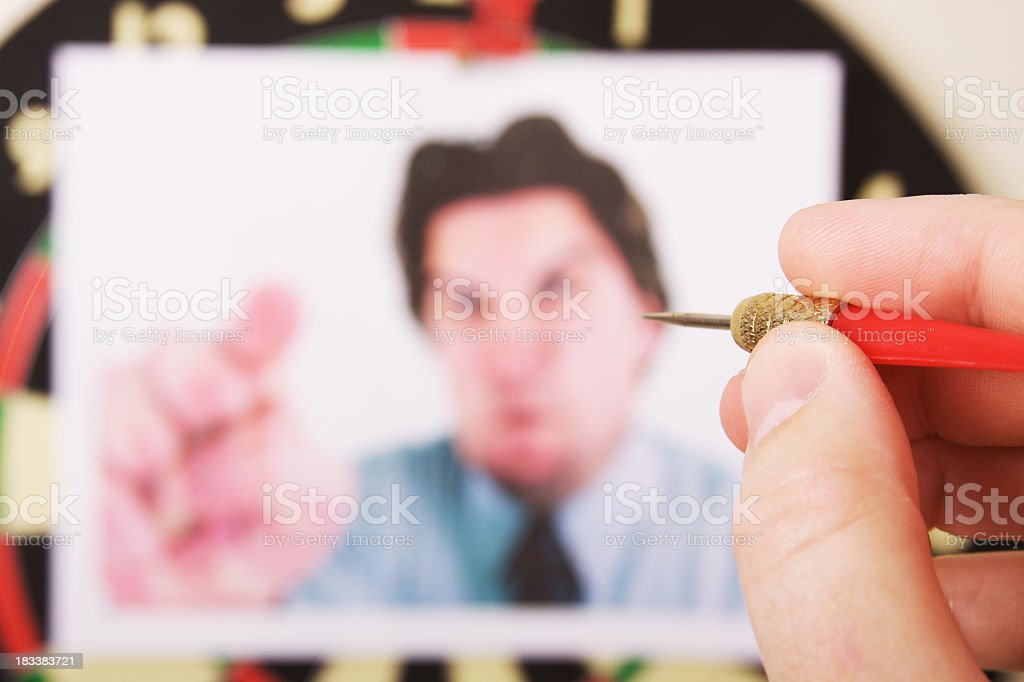 Boss Dart Board royalty-free stock photo