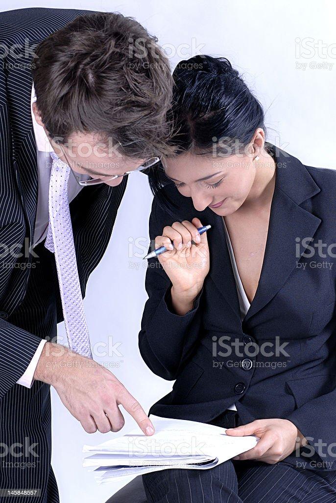 Boss explanation royalty-free stock photo