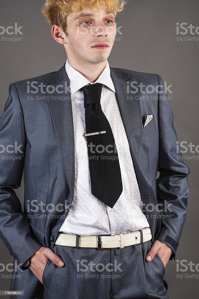 boss isolated on a gray background royalty-free stock photo