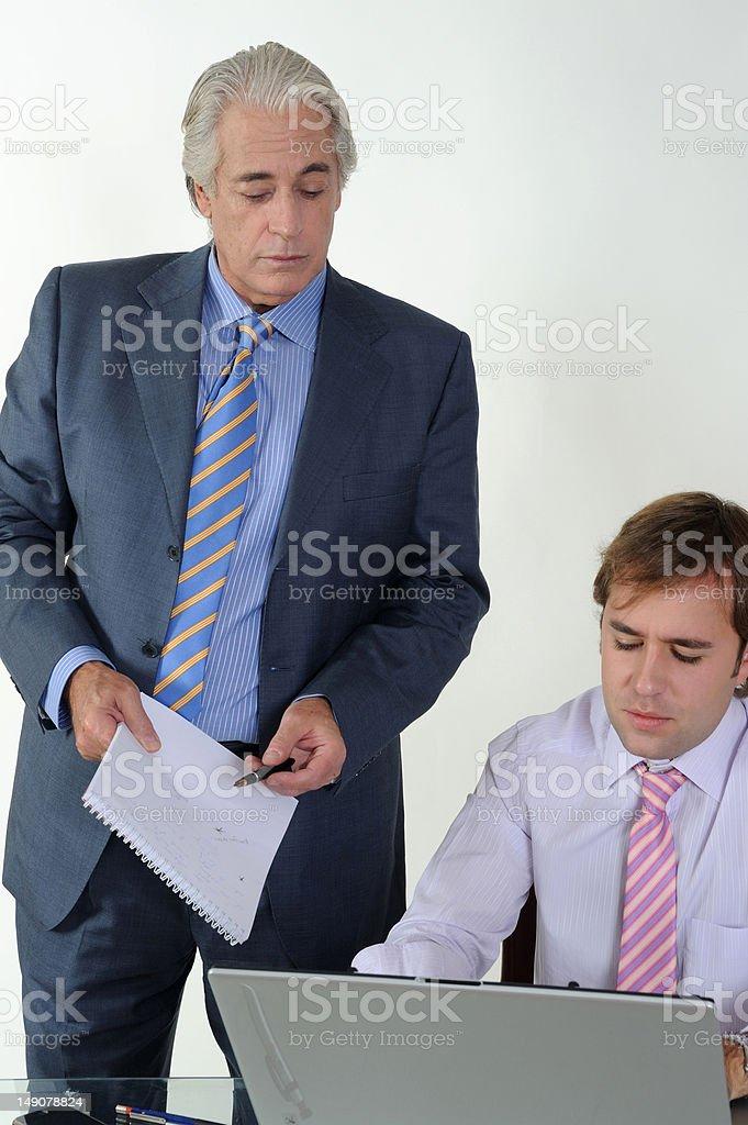 Boss supervising royalty-free stock photo