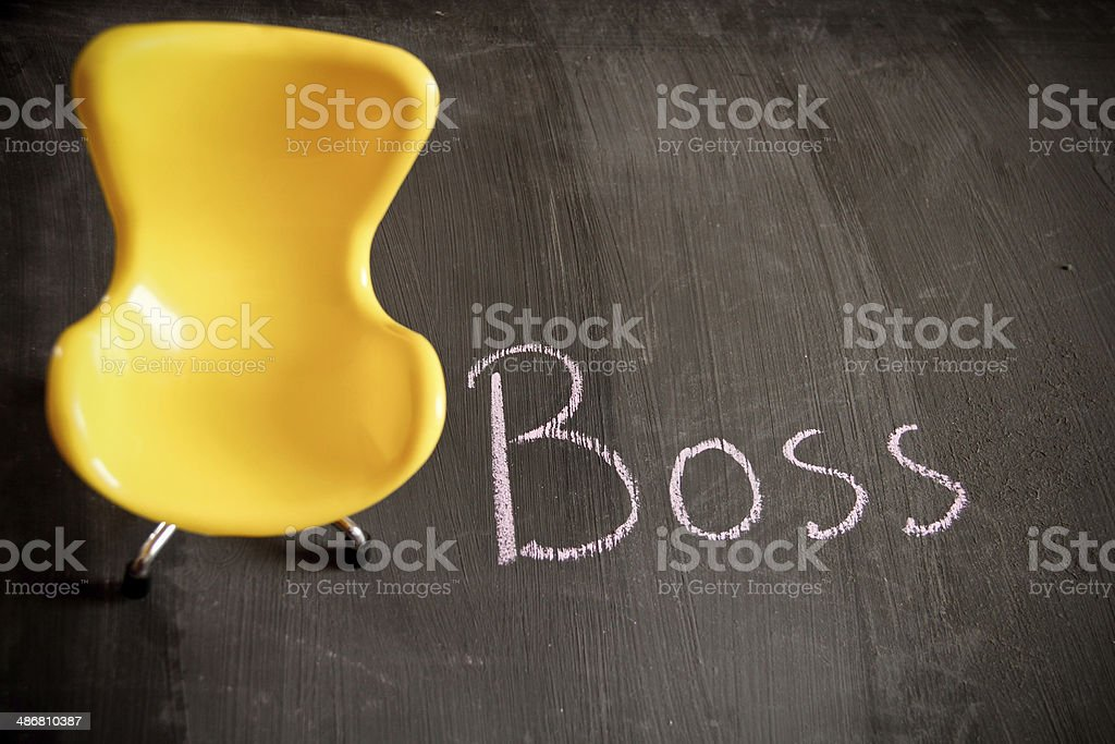 Boss, the desirable position royalty-free stock photo