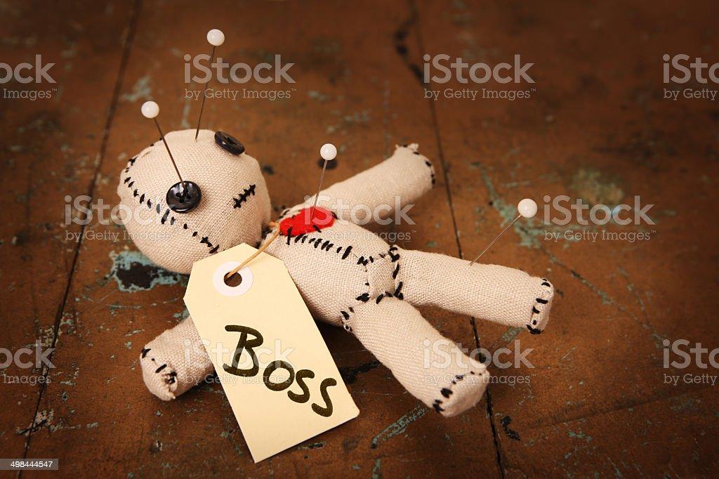 Boss Voodoo Doll stock photo