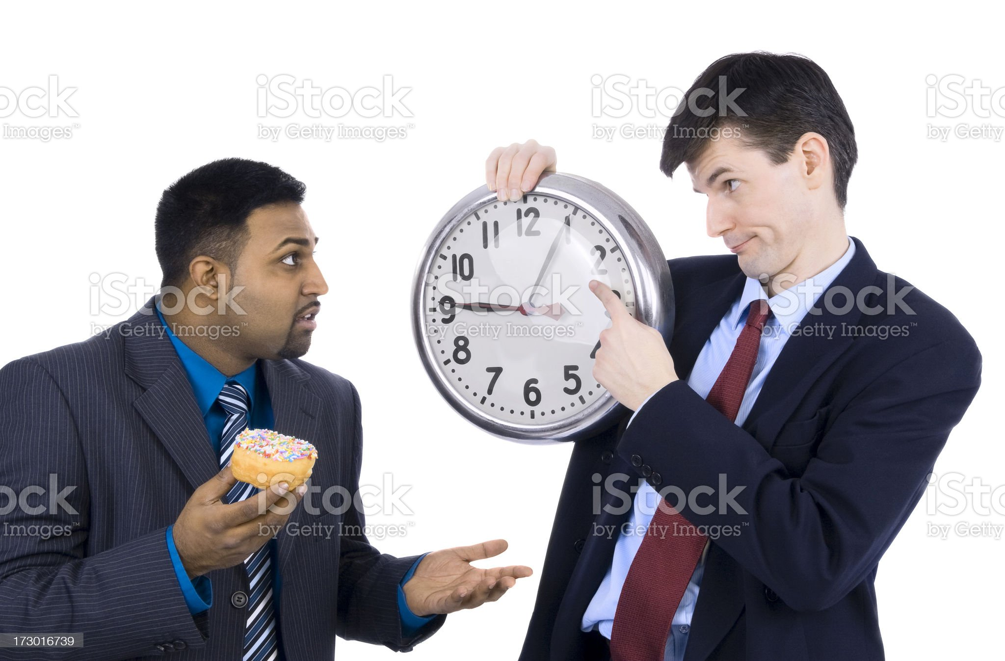 Boss With Clock royalty-free stock photo