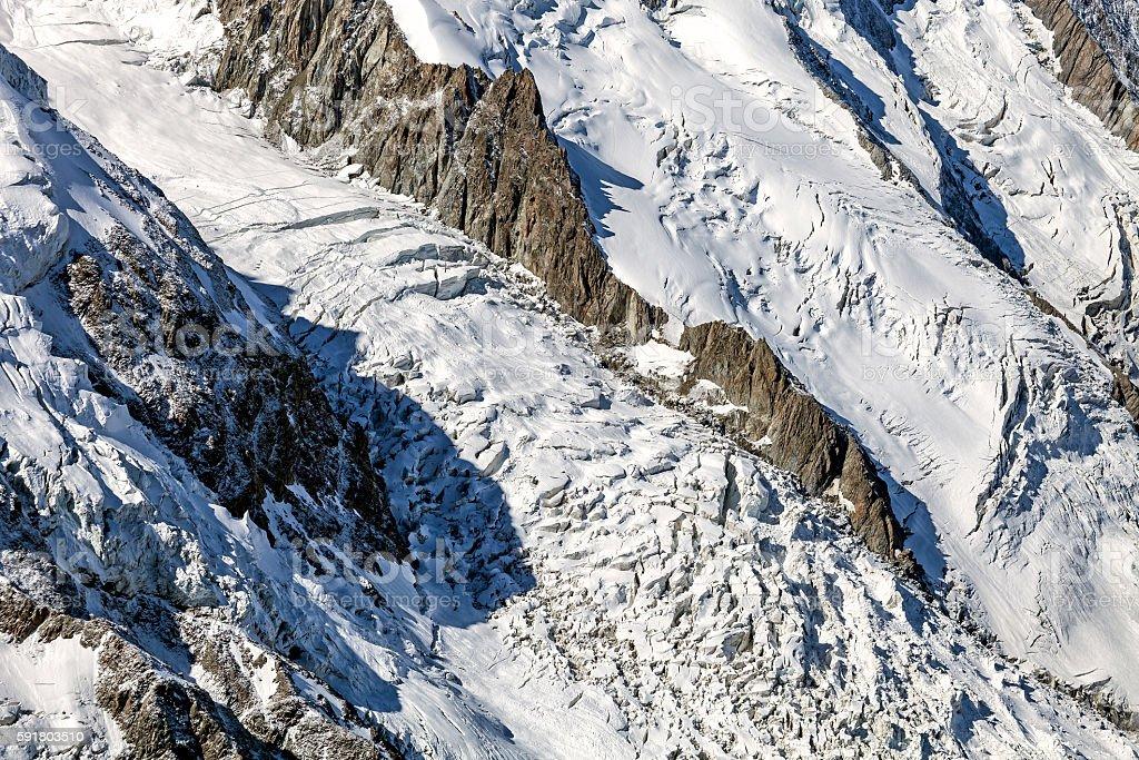 Bossons Glacier stock photo