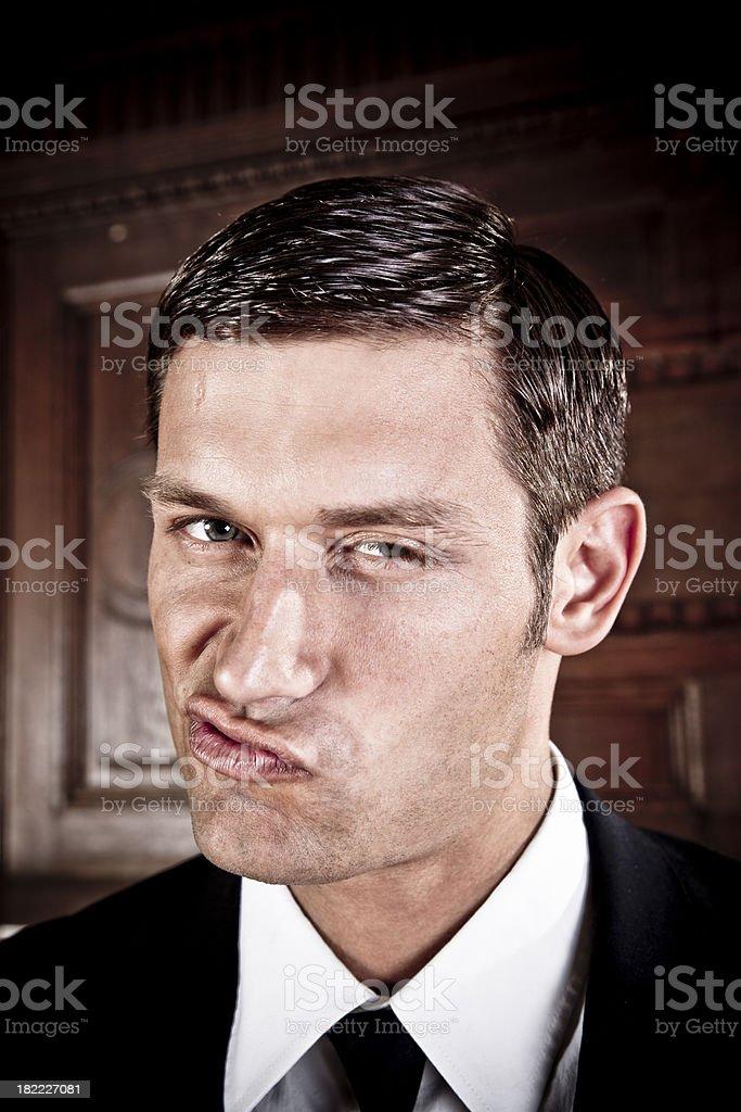 bossy business man royalty-free stock photo