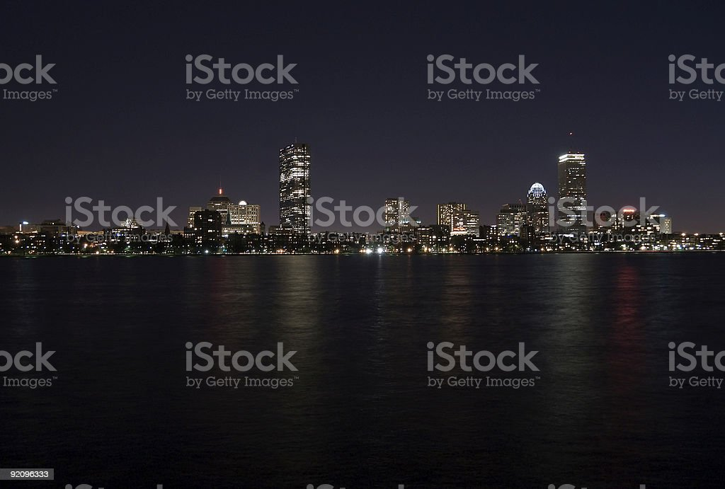 Boston across the Charles River royalty-free stock photo
