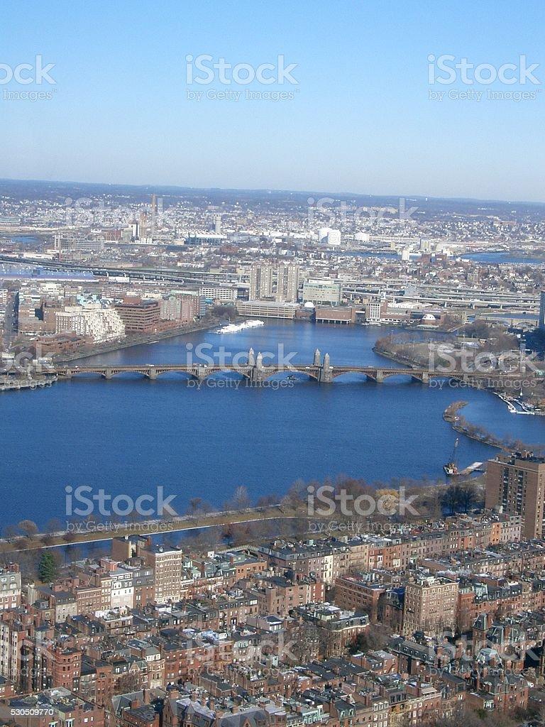 Boston aerial stock photo