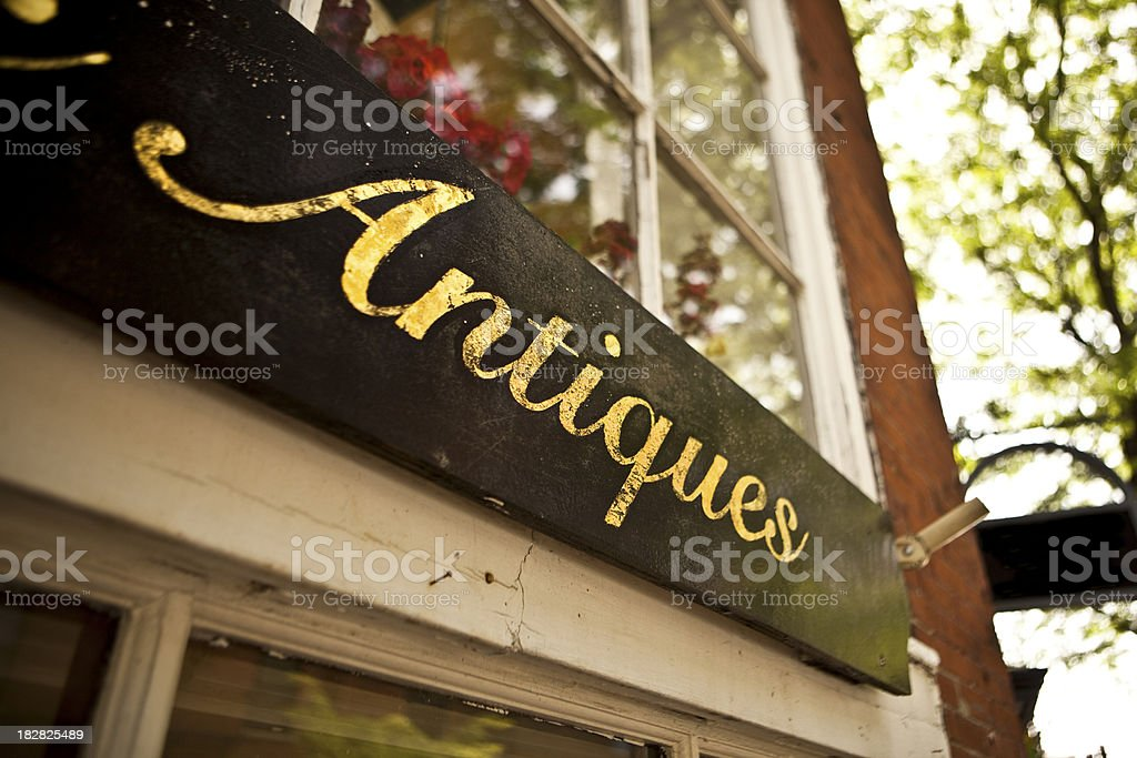 Boston antique shop stock photo