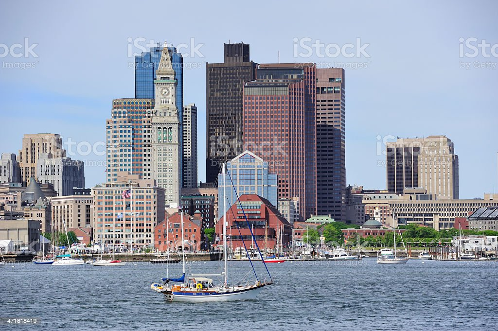 Boston architecture closeup royalty-free stock photo