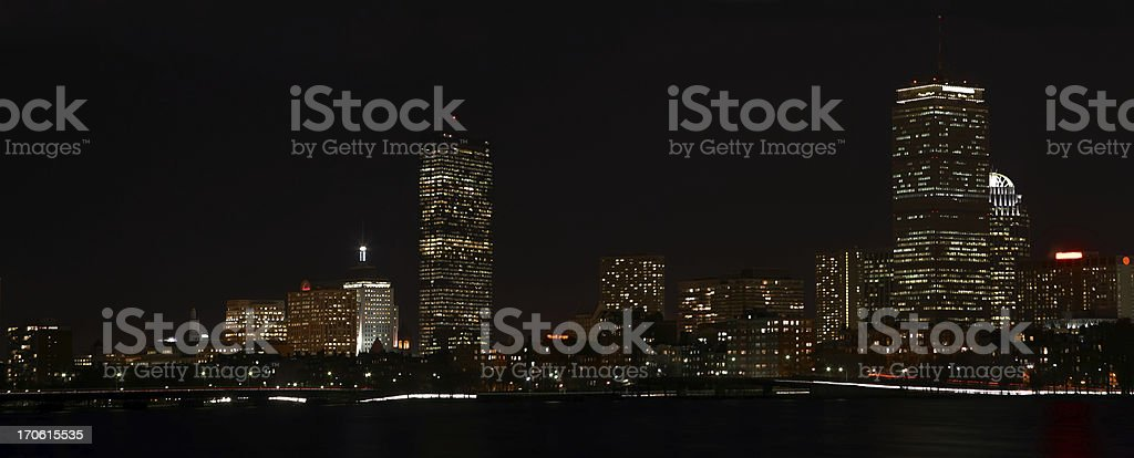 Boston at Night royalty-free stock photo